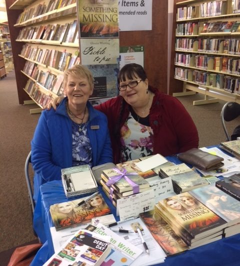 Author Glenice Whitting with our Managing Editor Wendy J. Dunn in 2017.